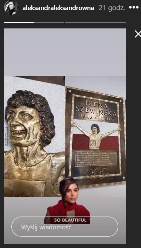 Zdjęcie przedstawiające rzeźbę Ireny Szewińskiej /Instagram/aleksandraleksandrowna /Instagram