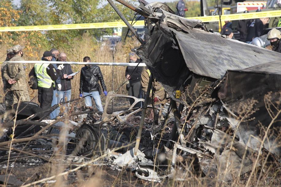 Zdjęcie rozbitego samolotu /Ukrainian Air Force crash /PAP/EPA