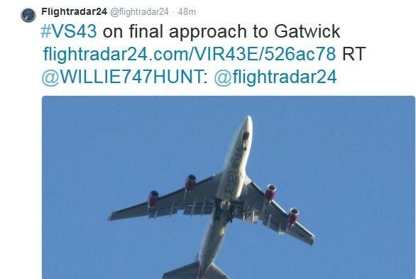 Zdjęcie samolotu zamieszczone na koncie Flightradar24 na Twitterze /