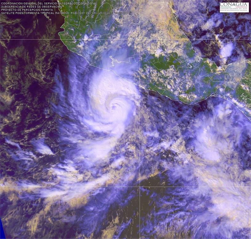 Zdjęcie satelitarne huraganu Raymond /PAP/EPA