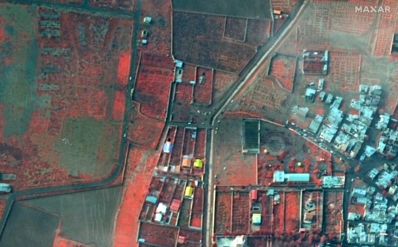 Zdjęcie satelitarne miejsca, gdzie doszło do katastrofy /SATELLITE IMAGE ©2019 MAXAR TECHNOLOGIES  /PAP/EPA