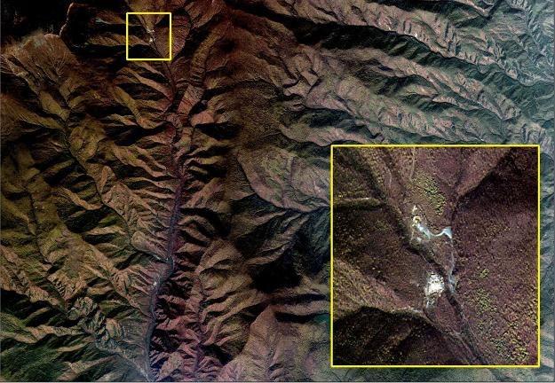Zdjęcie satelitarne: Miejsce domniemanej próby nuklearnej w P'unggye-yok Kilju /AFP