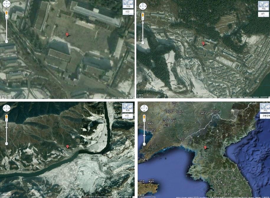 Zdjęcie satelitarne, na którym widać obóz nr 14 w Kaechon /YNA / UNIFICATION MINISTRY    /PAP/EPA