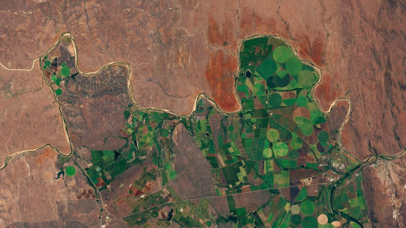 Zdjęcie satelitarne regionu rzeki Limpopo w RPA /materiały prasowe