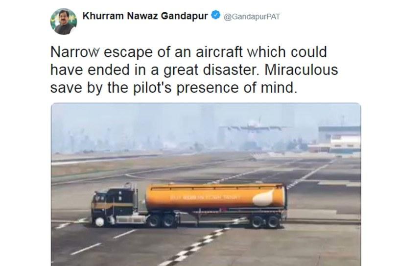 Zdjęćie skasowanego posta zamieszczonego w serwisie Twitter przez pakistańskiego sekretarza generalnego /materiały źródłowe