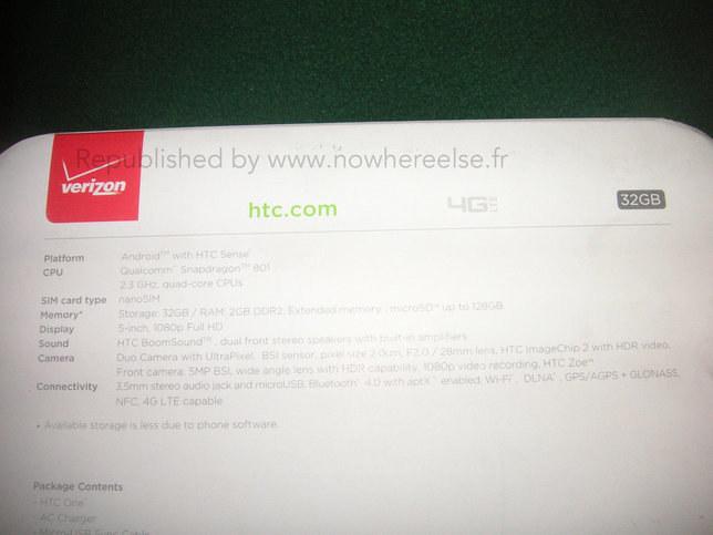 Zdjęcie spodu upakowania nowego HTC One. /Komórkomania.pl