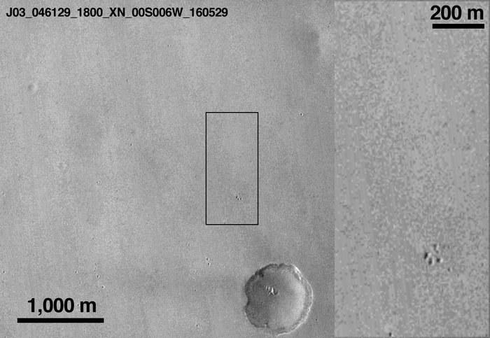 Zdjęcie tego samego miejsca wykonane 29 maja 2016 roku /NASA/JPL-Caltech/MSSS /materiały prasowe