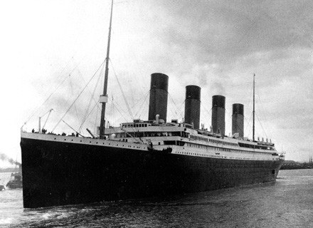 Zdjęcie Titanic'a z kwietnia 1912 roku. /Getty Images/Flash Press Media
