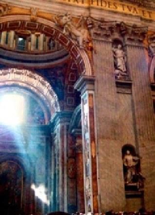 Zdjęcie w całości domniemanego anioła wykonane w Bazylice Św. Piotra /MWMedia