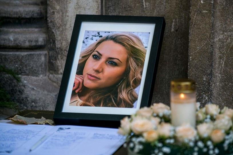 Zdjęcie Wiktorii Marinowej podczas uroczystości pogrzebowych /AFP