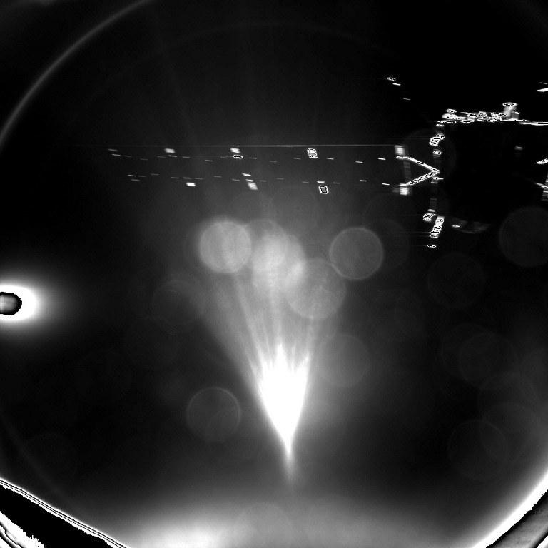 Zdjęcie wykonane na chwilę po odzieleniu Philae od Rosetty /AFP