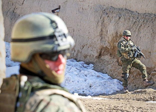 Zdjęcie wykonane podczas patrolu w okolicach bazy Warrior/fot. Marcin Wójcik /