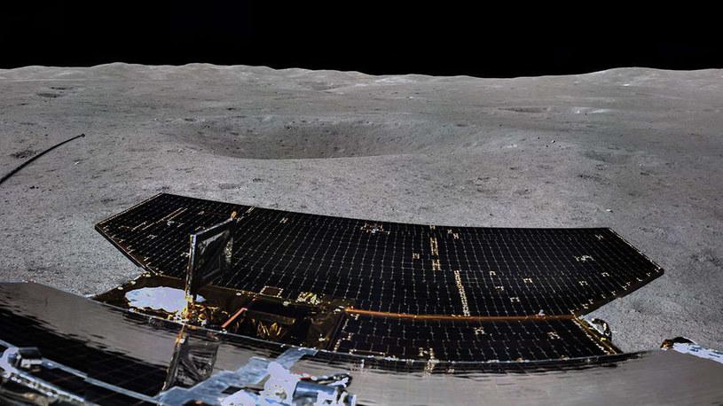 Zdjęcie wykonane przez Chang'e-4 na powierzchni /materiały prasowe