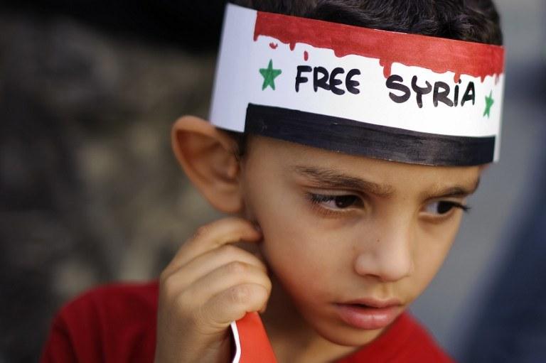 Zdjęcie wykonano w 2011 roku - był to początek protestów w syrii, które przerodziły się w krwawa wojnę /FABRICE COFFRINI / AFP /AFP