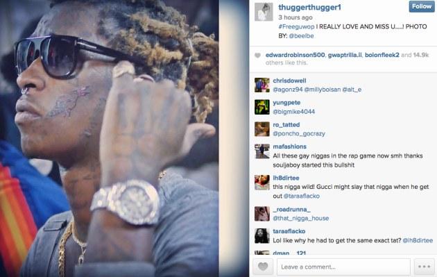 Zdjęcie Young Thuga na Instagramie /