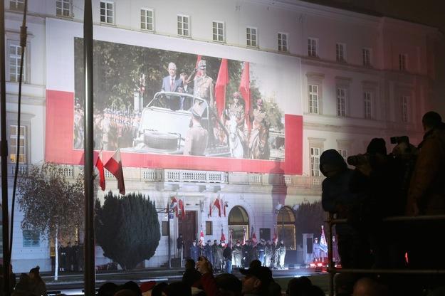 Zdjęcie z 10 listopada 2018 rok, z uroczystości odsłonięcia pomnika Lecha Kaczyńskiego /Michał Dukaczewski /Archiwum RMF FM