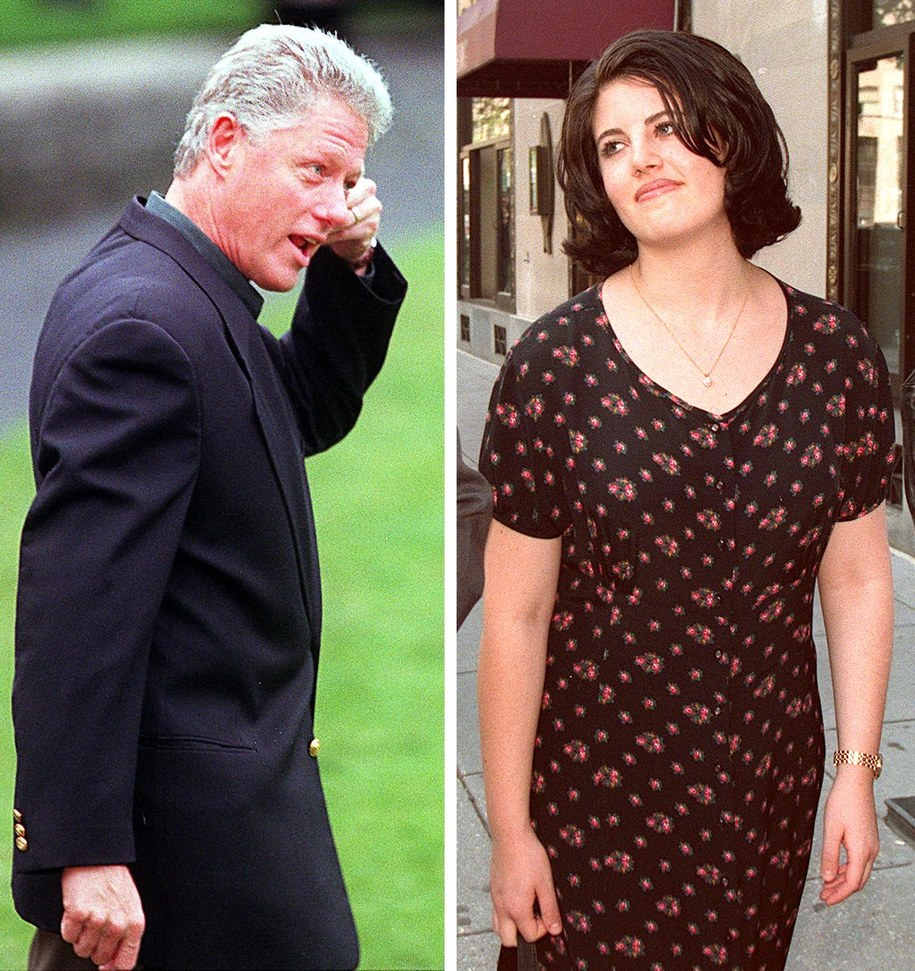 Zdjęcie z 1998 roku, a na nim Bill Clinton oraz najsłynniejsza stażystka w Białym Domu Monica Lewinsky /STAFF /PAP/EPA