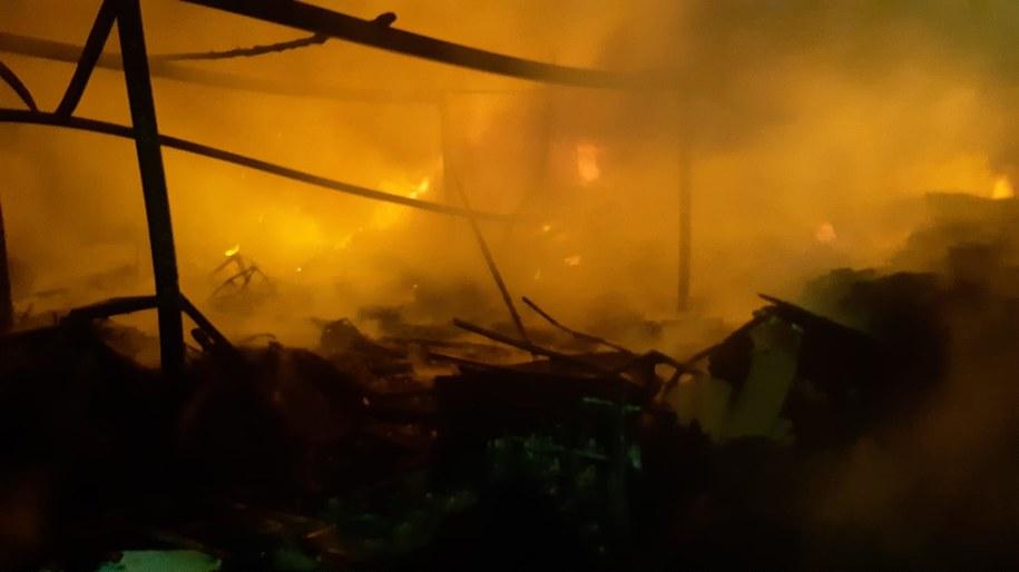 Zdjęcie z akcji gaśniczej /KM PSP Mysłowice /
