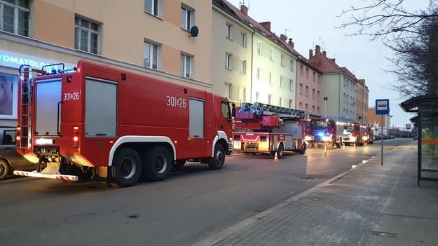 Zdjęcie z akcji gaśniczej /OSP Opole-Gosławice /