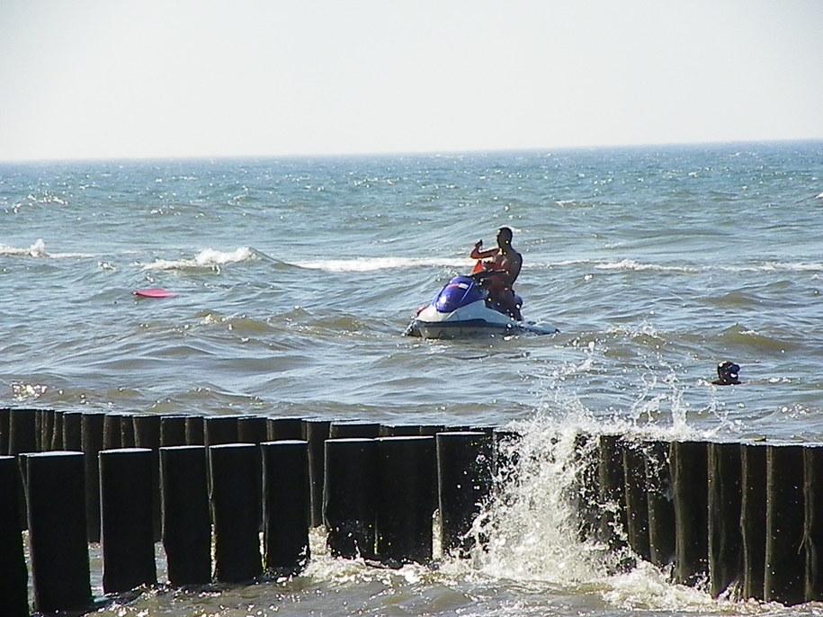 Zdjęcie z akcji ratunkowej na Bałtyku /Gorąca Linia /RMF FM