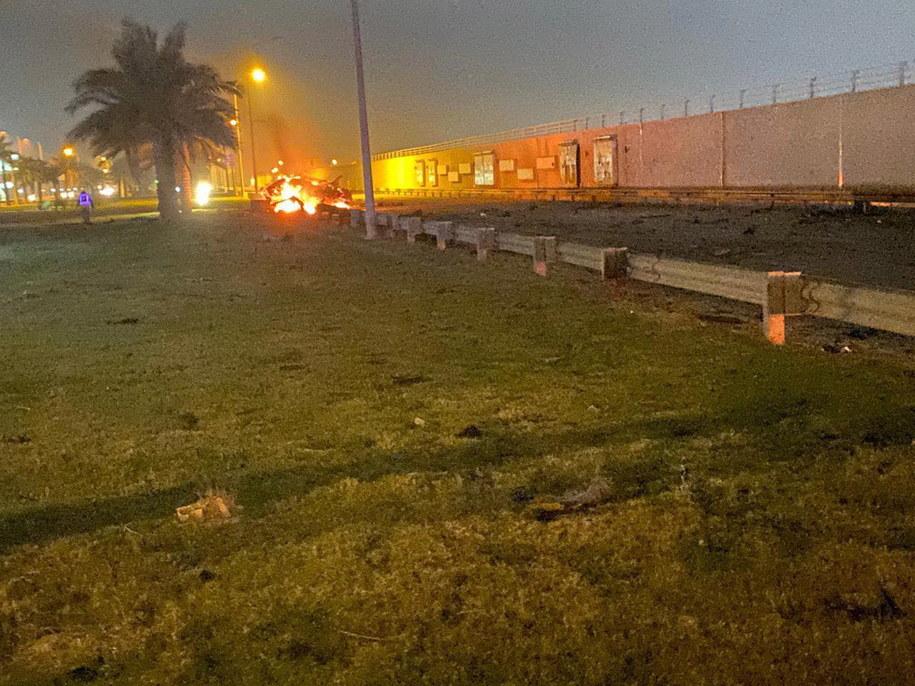 Zdjęcie z amerykańskiego ataku na irańskiego generała /IRAQ'S SECURITY MEDIA CELL HANDOUT /PAP/EPA