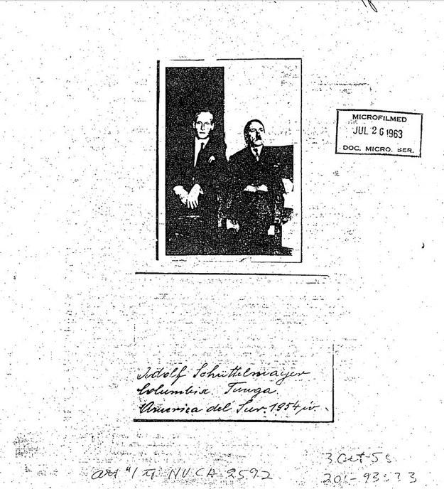 """Zdjęcie z archiwów CIA, które ma przedstawiać Philipa Citroena i """"Adolfa Shrittelmayora"""" /cia.gov /Zrzut ekranu"""