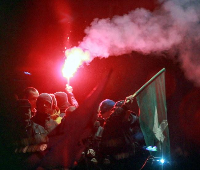 Zdjęcie z demonstracji w Zabrzu /PAP/Andrzej Grygiel    /PAP