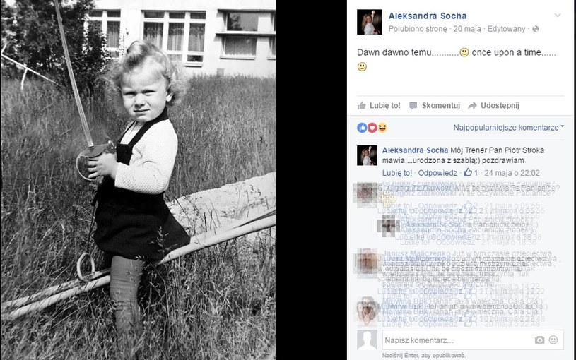 Zdjęcie z dzieciństwa opublikowne przez Aleksandrę Sochę /Facebook /INTERIA.PL