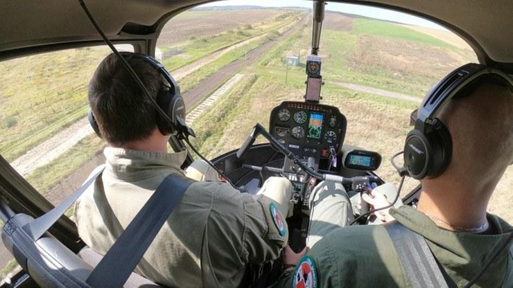 Zdjęcie z helikoptera Straży Granicznej /Zdjęcie ilustracyjne /Straż Graniczna