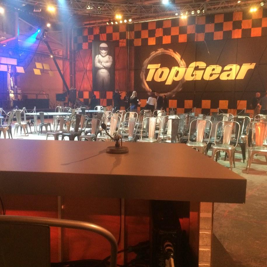 """Zdjęcie z konferencji prasowej """"Top Gear"""". /Michał Dobrołowicz /RMF FM"""