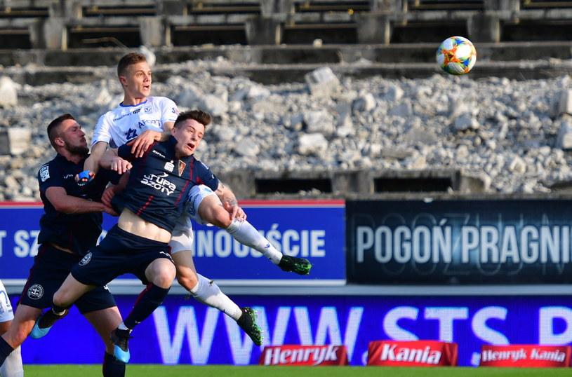 Zdjęcie z meczu Pogoń - Lech /Marcin Bielecki /PAP
