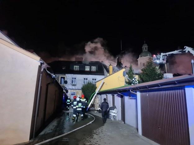 Zdjęcie z miejsca akcji strażaków /KP PSP w Zgierzu /