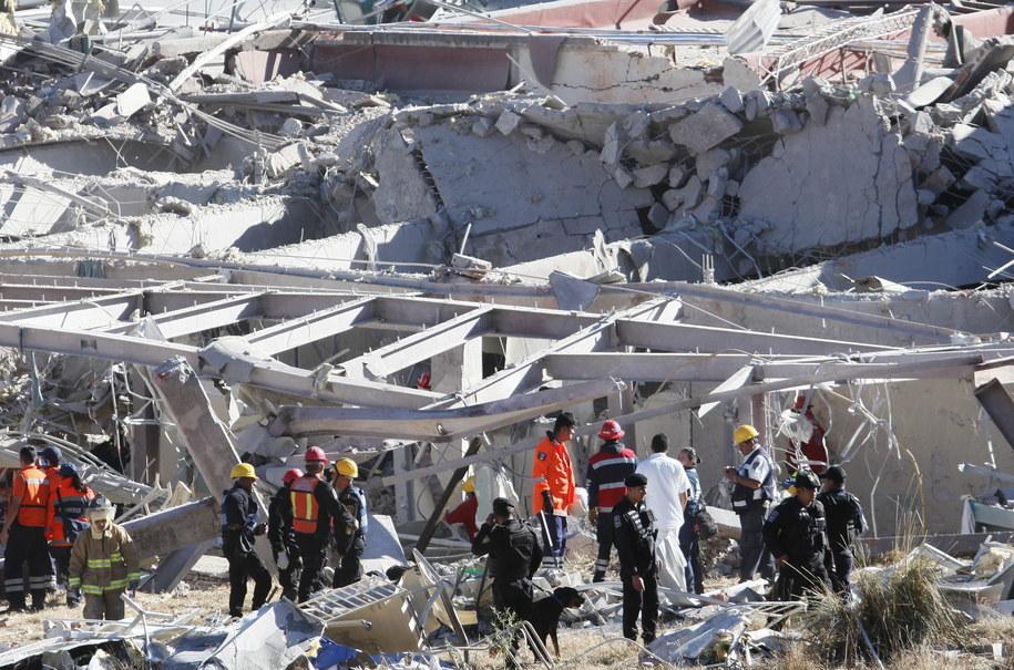 Zdjęcie z miejsca eksplozji /PAP/EPA/JORGE NUNEZ /PAP/EPA