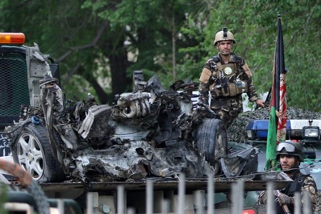 Zdjęcie z miejsca eksplozji /PAP/EPA/HEDAYATULLAH AMID /PAP/EPA