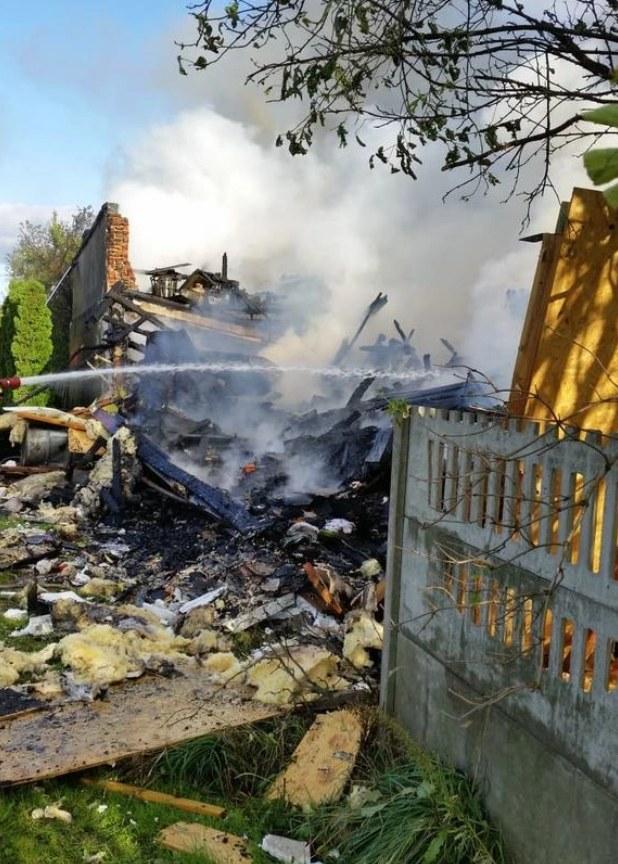 Zdjęcie z miejsca eksplozji /PSP /