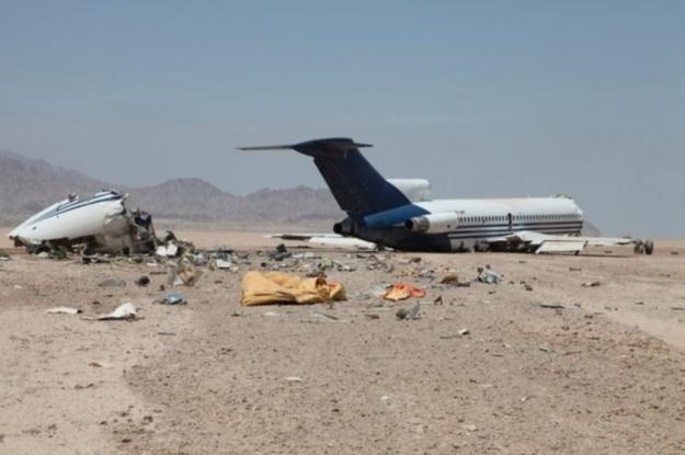 Zdjęcie z miejsca katastrofy /materiały prasowe
