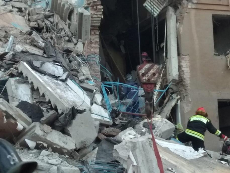 Zdjęcie z miejsca katastrofy /RUSSIAN EMERGENCY SITUATIONS MINISTRY HANDOUT /PAP/EPA