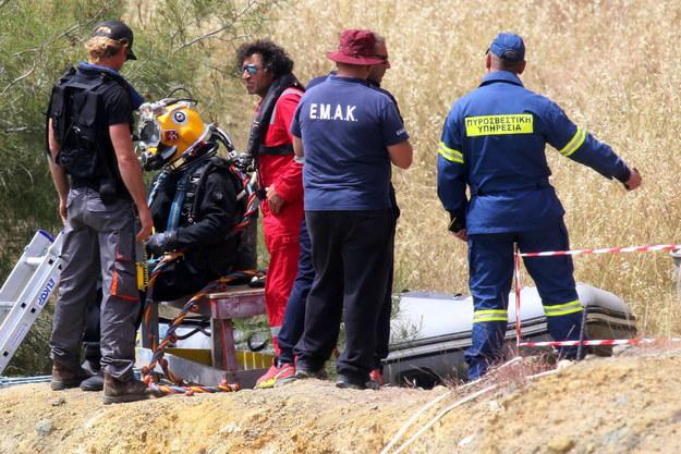 Zdjęcie z miejsca poszukiwań jednej z zaginionych kobiet /KATIA CHRISTODOULOU  /PAP/EPA
