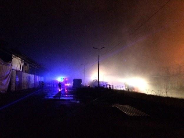 Zdjęcie z miejsca pożaru /Agnieszka Wyderka /RMF