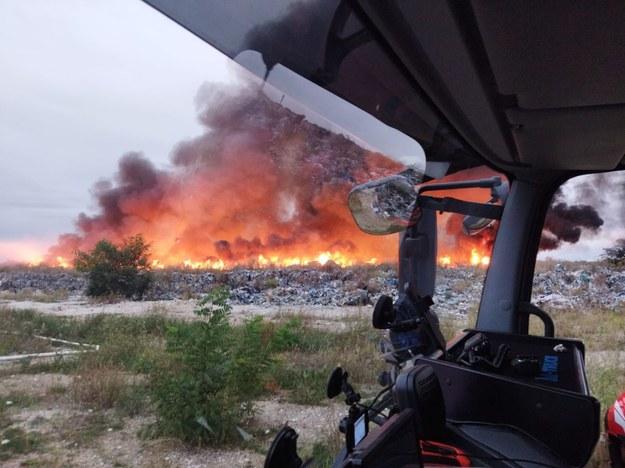 Zdjęcie z miejsca pożaru /Straż Pożarna /