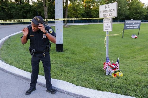 Zdjęcie z miejsca strzelaniny /ERIK S. LESSER /PAP/EPA