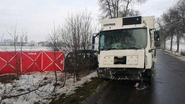 Zdjęcie z miejsca tragicznego wypadku /foto. KPP Łosice /