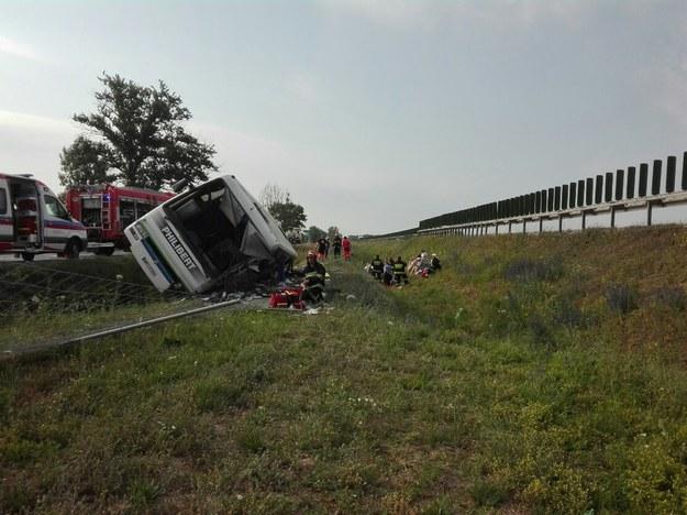 Zdjęcie z miejsca wypadku (fot. Państwowa Straż Pożarna) /PSP
