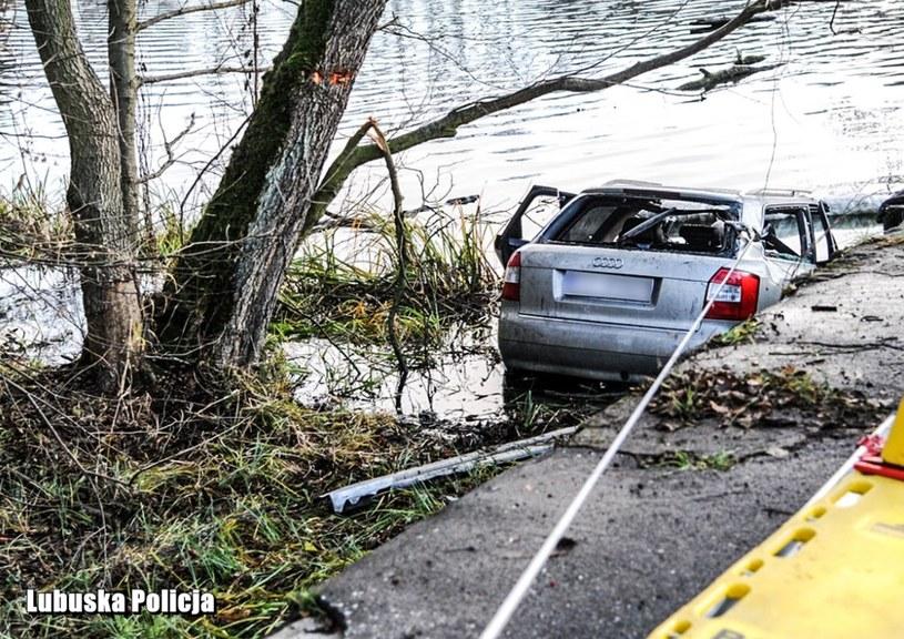 Zdjęcie z miejsca wypadku /Lubuska Policja/Twitter /Policja