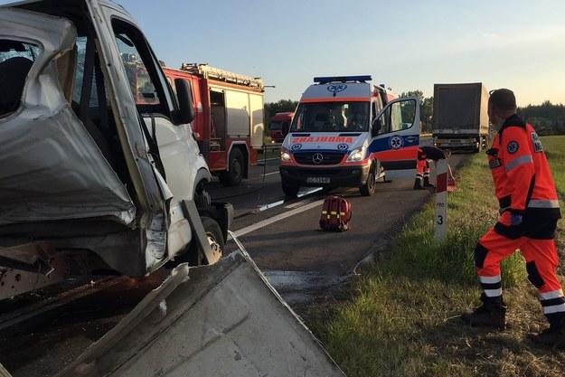 Zdjęcie z miejsca wypadku od naszego Słuchacza. /Gorąca Linia RMF FM