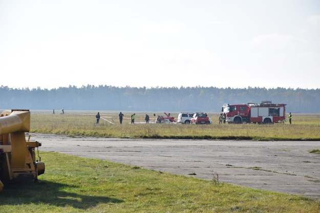Zdjęcie z miejsca wypadku samolotu w Kamieniu Śląskim dostaliśmy na Gorącą Linię RMF FM od Mariusza /Gorąca Linia RMF FM /