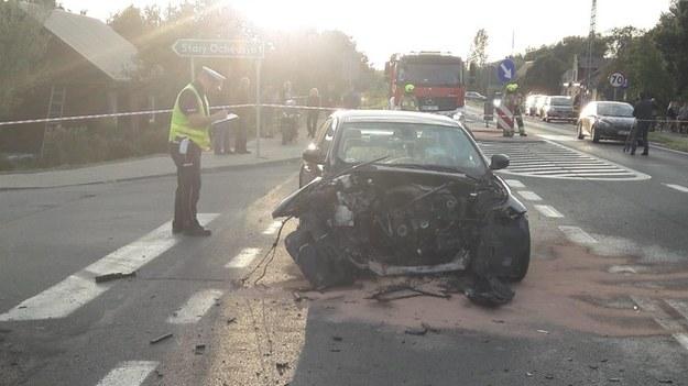 Zdjęcie z miejsca wypadku; Źródło: KPP Wieruszów/Polsat News /