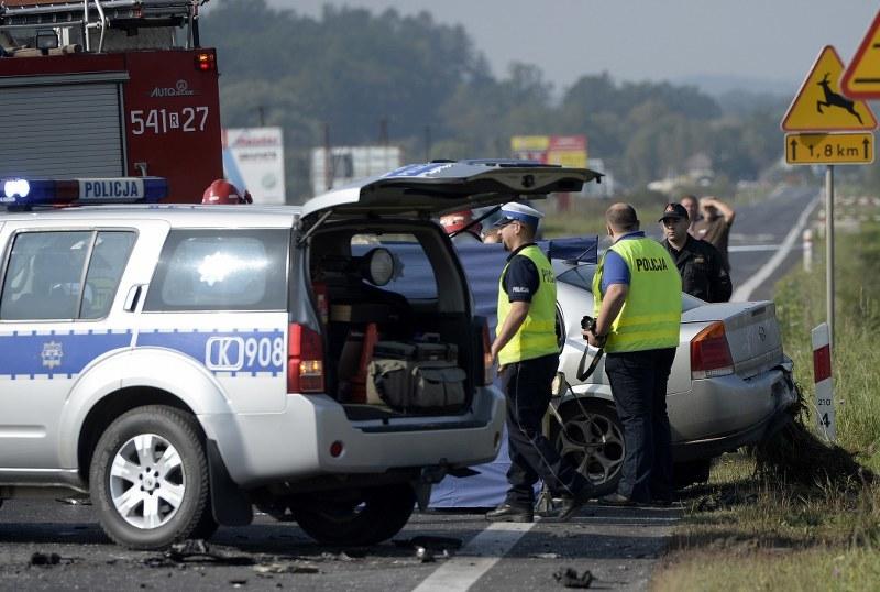 Zdjęcie z miejsca wypadku /Darek Delamanowicz /PAP