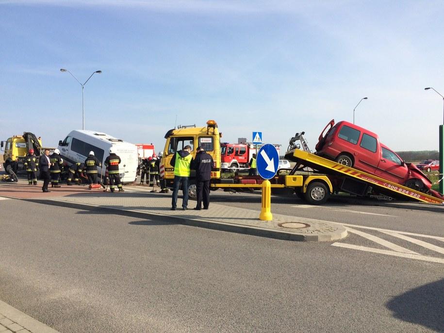Zdjęcie z miejsca wypadku /Kuba Kaługa /RMF FM