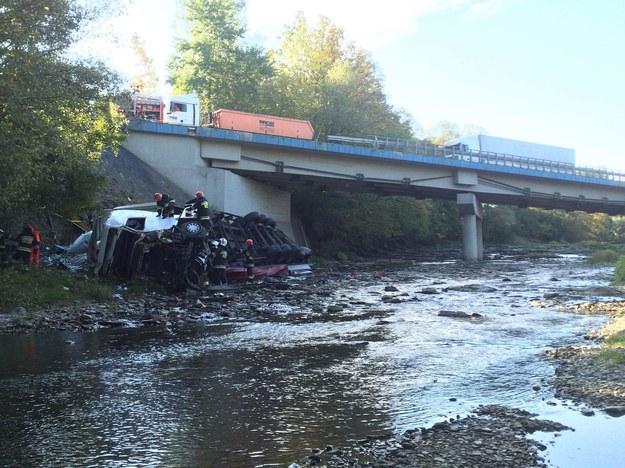Zdjęcie z miejsca wypadku /Gorąca Linia /RMF FM